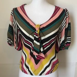 Express NEW striped balloon sleeves womens XS